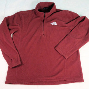 The North Face Burgundy Thermal Qtr Zip Jacket Lg